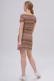 Платье для беременных и кормящих 09582 разноцветный