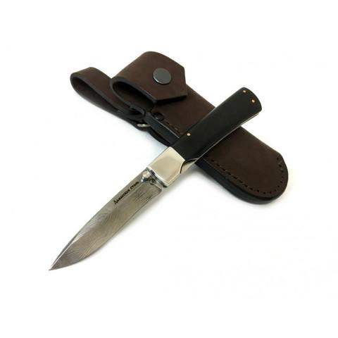 Нож Ласка-М Складной, дамасск, граб