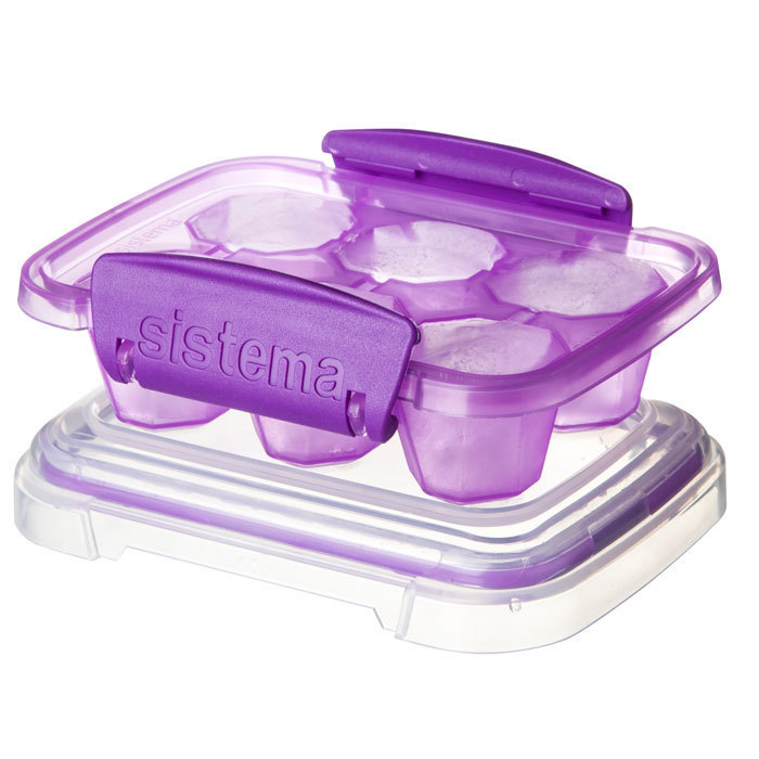 """Форма для льда Sistema """"KLIP IT"""" 6 ячеек, цвет Фиолетовый"""