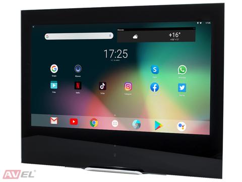 Сенсорная Android-панель для кухни AVEL AVS245K (черная рамка)