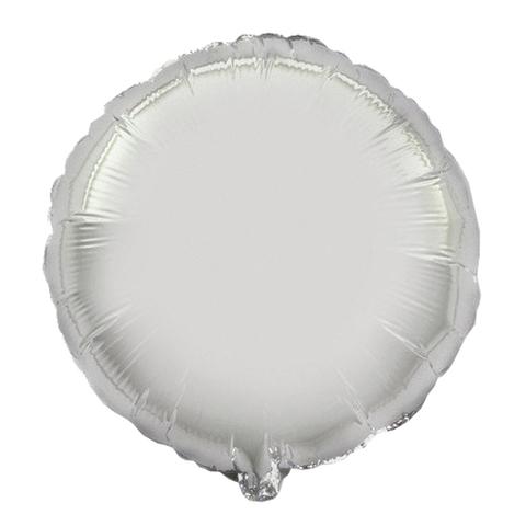 Шар-круг Серебряный, 45 см