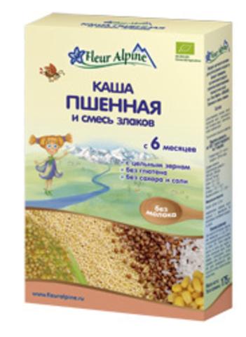 Каша Fleur Alpine Organic пшенная и смесь злаков безмолочная (6+ мес.)