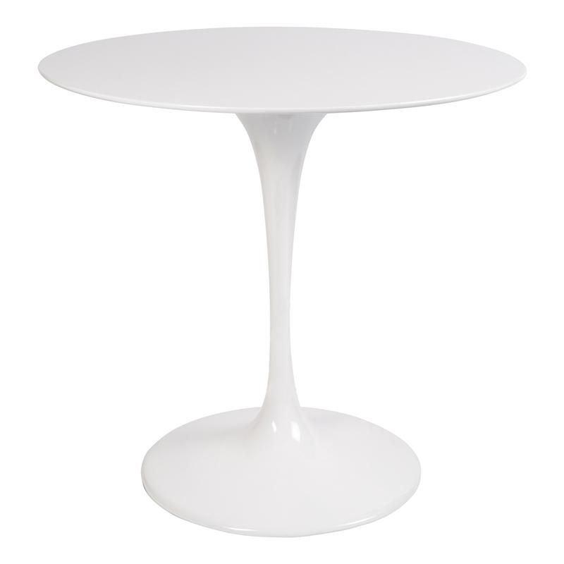 Стол Eero Saarinen Style Tulip Table белый Top MDF D80 глянцевый - вид 1