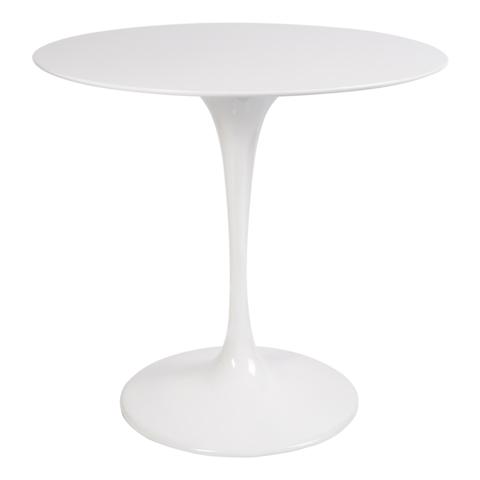 Стол Eero Saarinen Style Tulip Table белый Top MDF D80 глянцевый
