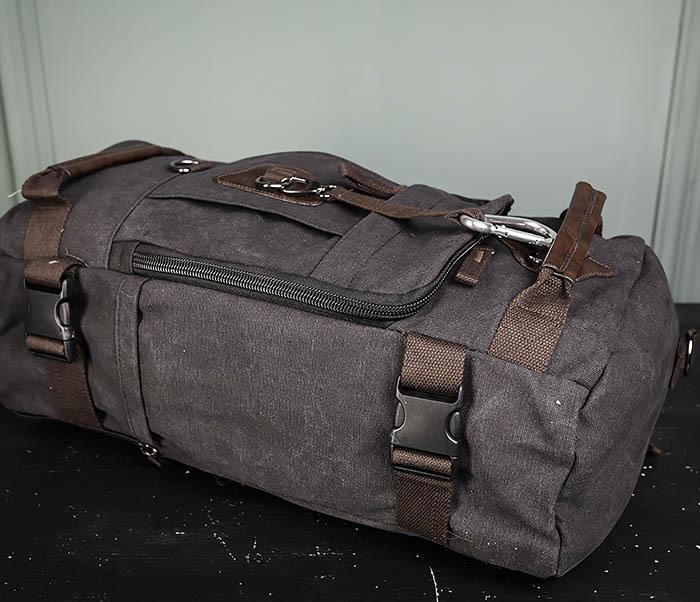 BAG479-1 Большой рюкзак трансформер из текстиля фото 09