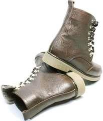 Красивые зимние ботинки женские Studio27 576c Broun.