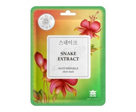 Маска тканевая Mi Ri Ne разглаживающая Snake Extract