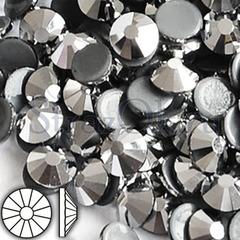 Стразы горячей фиксации клеевые стеклянные термостразы Silver Hematite Сильвер Гематит серебряный на StrazOK.ru