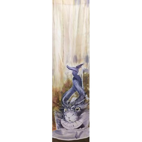 Шелковый шарф батик Кролик С-57