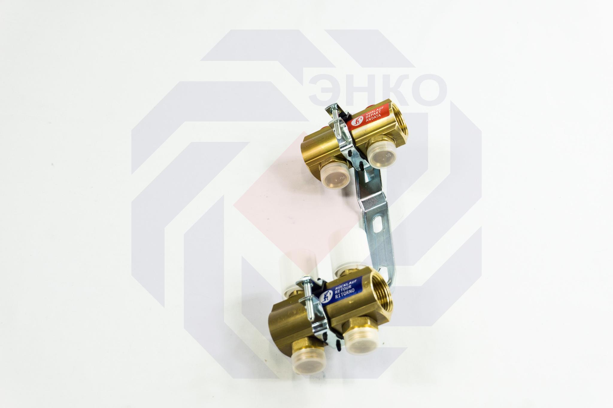 Комплект коллекторов без расходомеров GIACOMINI R553E 2 контура