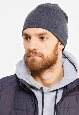 Теплая шерстяная шапка Buff Solid Grey фото 2