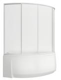 шторки для ванной Флорида, 3-х створчатая, Пластик