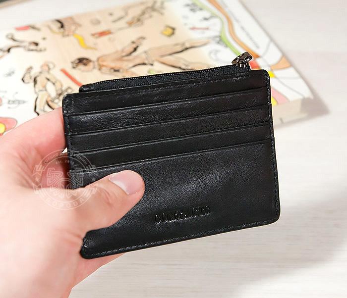 WL259-1 Тонкий мужской кошелек из кожи с отделением на молнии фото 06