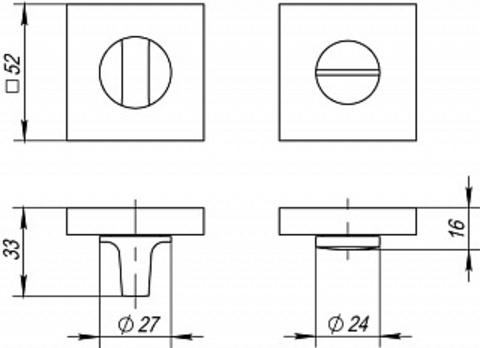 Завертка FUARO BK6 DM SN/CP-3 Схема