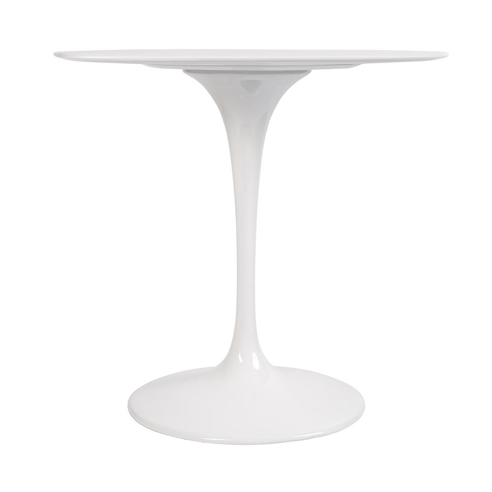 Стол Eero Saarinen Style Tulip Table белый Top MDF D80 глянцевый - вид 2