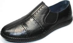 Стильные мокасины мужские Luciano Bellini 107607 Black.