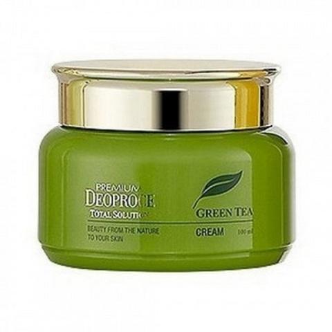 Deoproce Premium Greentea Total Solution Cream крем на основе зеленого чая