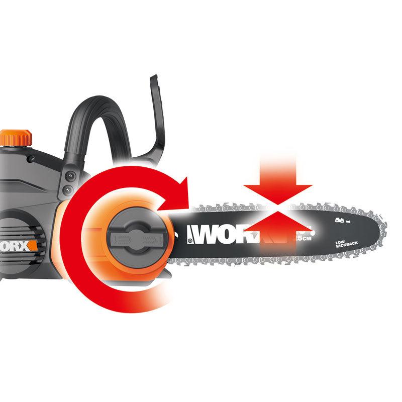 Пила цепная аккумуляторная WORX WG322E.9, 20В, 25 см, без АКБ и ЗУ