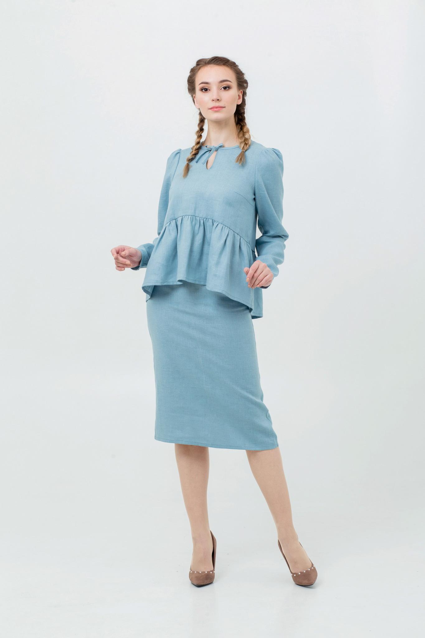 Блуза льняная в русском стиле