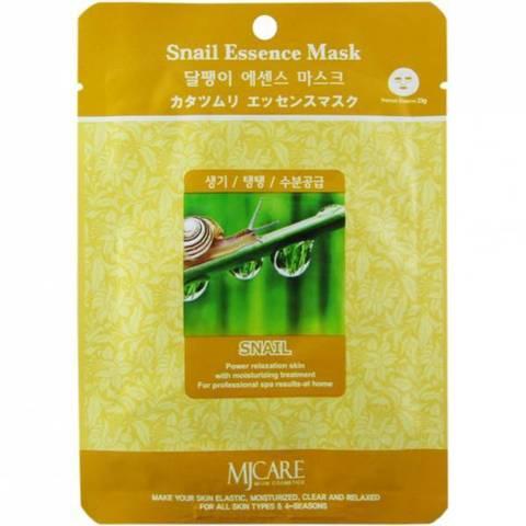 Маска для лица с экстрактом улитки MIJIN COSMETICS Snail Essence Mask 30гр