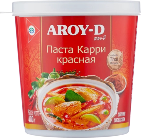 Aroy-D Паста Карри красная, 400 г