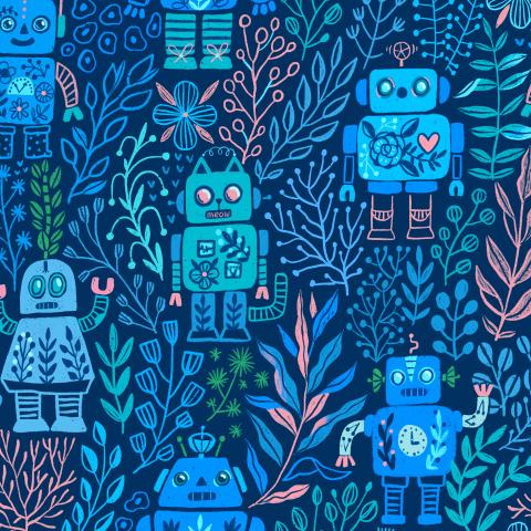 Роботы и флора