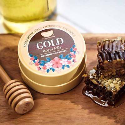 Патчи для глаз золото и маточное молочко KOELF Gold & Royal Jelly Hydrogel Eye Patch