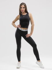 Лосины NEBBIA Squad Hero Scrunch Butt leggings 528 BLACK
