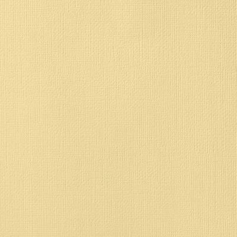 Текстурированный кардсток 30х30 American Crafts Textured Cardstock - Цвет Butter