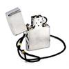 Зажигалка Zippo Lossproof с покрытием Brushed Chrome, со шнурком, латунь/сталь, серебристая, м