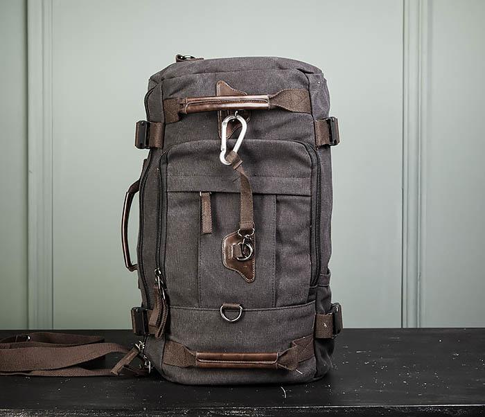 BAG479-1 Большой рюкзак трансформер из текстиля фото 11