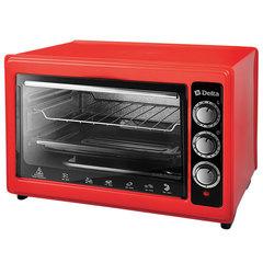 Мини печь | Духовка электрическая 1300 Вт 37 л DELTA D-0123 красная