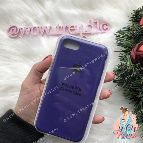 Чехол iPhone 7/8 Silicone Case /ultra violet/ ультрафиолет 1:1