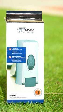 Дозатор для жидкого мыла и антисептиков из ABC хром пластика 350 мл.