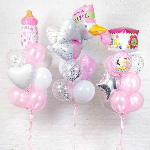 Набор воздушных шаров на выписку для девочки №4