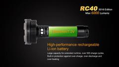 Fenix RC40 (2016) 6000 лм (USB)