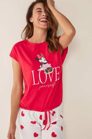Піжама «Мінні Маус» з бавовни зі штанами капрі