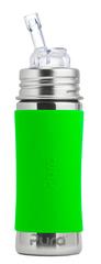 Детская стальная бутылочка с трубочкой Pura Kiki 325 ml ЗЕЛЕНЫЙ