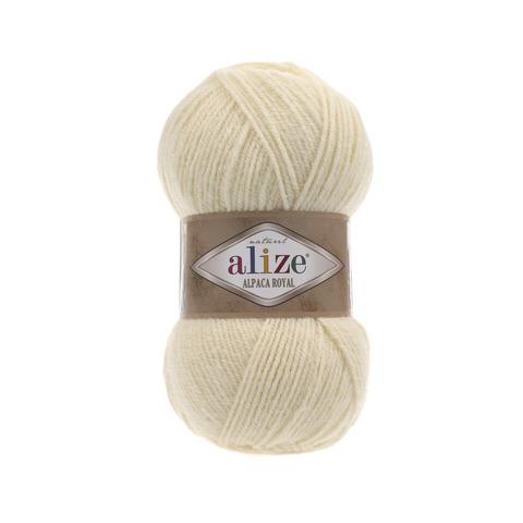 Пряжа Alize Alpaca Royal молочный 01