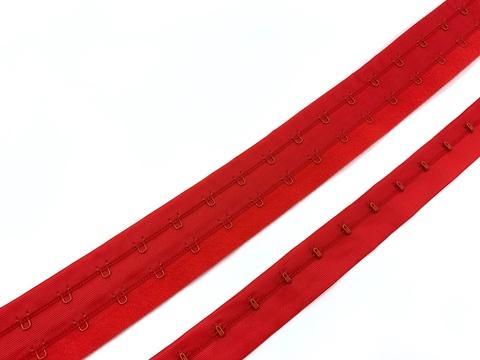 Крючки на ленте двухрядные красные (цв. 100)
