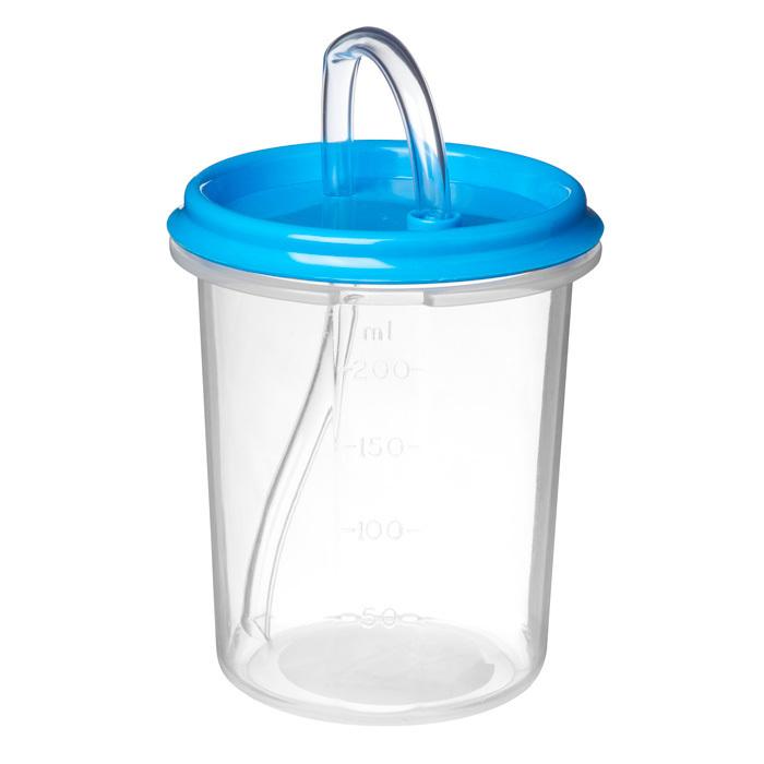 "Бутылочка-поильник с трубочкой Sistema""Hydrate"" 250 мл, цвет Голубой"