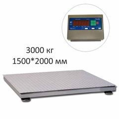 Купить Весы платформенные СКЕЙЛ СКП 3000-1520, LED, АКБ, 3000кг, 1000гр, 1500х2000, RS-232, стойка (опция), с поверкой, выносной дисплей. Быстрая доставка
