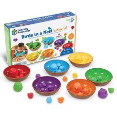 Развивающая игрушка Цветные гнёздышки (36 элементов) Learning Resources, арт. LER5554