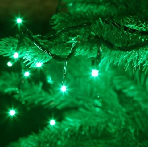 5 метров нить гирлянда новогодняя зеленый цвет 50 LED