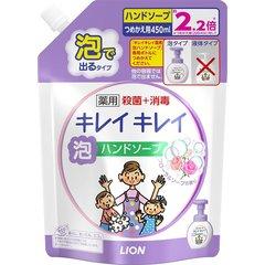 Мыло-пенка для рук, Lion, KireiKirei, Цветочное, сменный блок, 450 мл