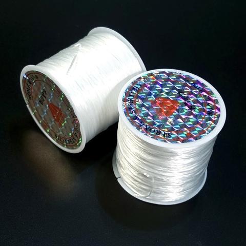 Спандекс резинка для браслетов (без оплётки) 0,7 мм катушка 60 метров прозрачный
