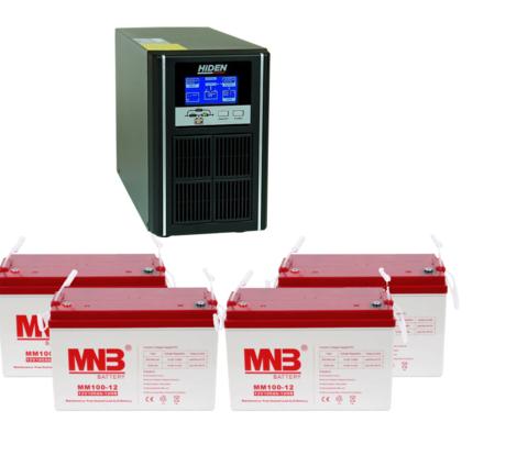 Комплект ИБП UDC9202H-АКБ MM100 (48в, 1600Вт)