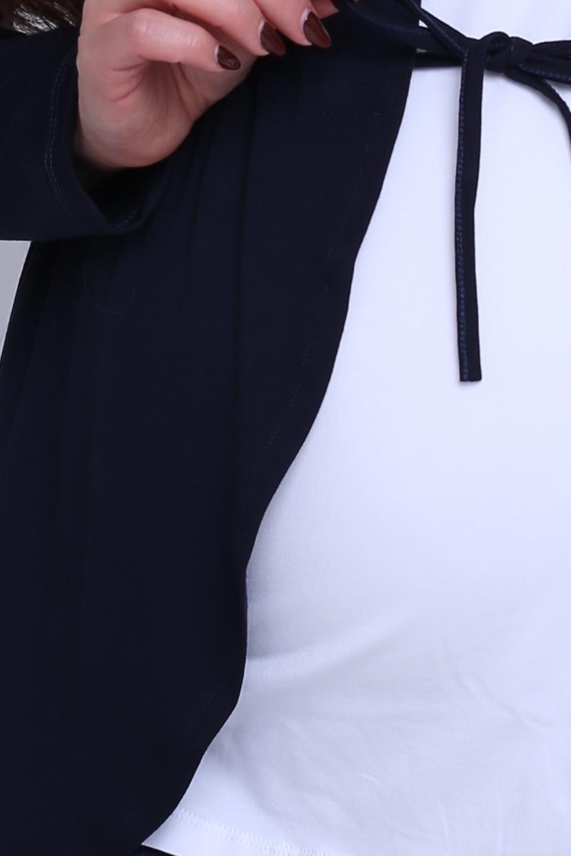 Кардиган для беременных 08531 темно-синий