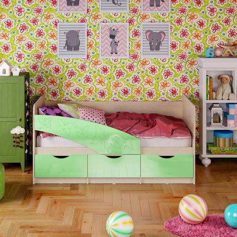 Кровать Бабочки салатовый