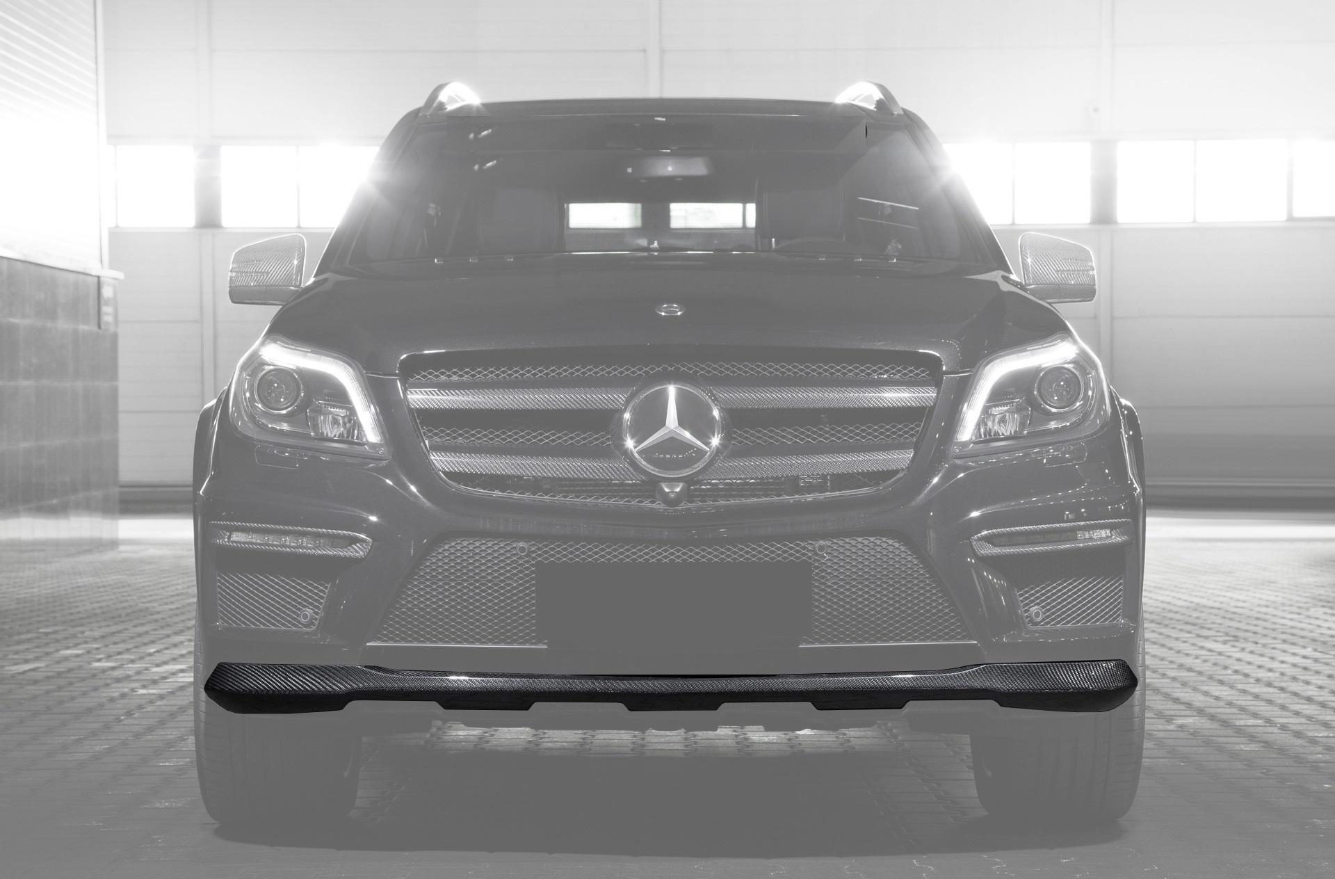 Карбоновый спойлер переднего бампера 63 AMG Style для Mercedes GL-class X166